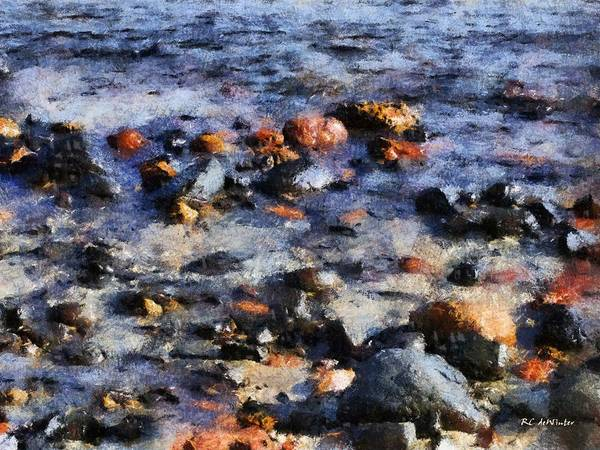 Painting - Saltwater Mosaic by RC DeWinter