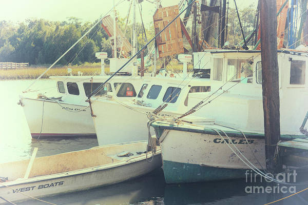 Photograph - Salty Waters Shrimp Boats  by Dale Powell