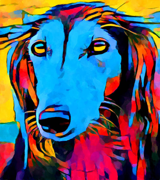 Wall Art - Painting - Saluki Portrait  by Chris Butler