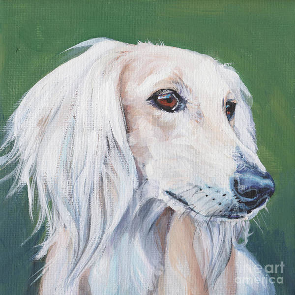 Wall Art - Painting - Saluki Sighthound by Lee Ann Shepard