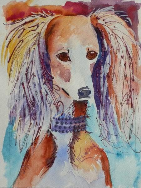 Elwood Blues Painting - Saluki Sparkle by Jann Elwood
