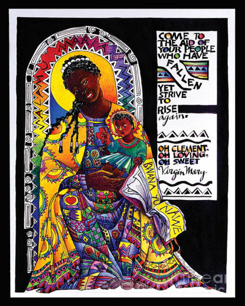 Painting - Salumu Maria 'hail Mary' In Swahili - Mmsam by Br Mickey McGrath OSFS