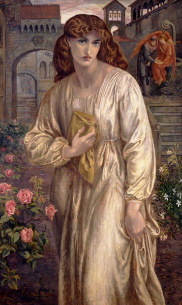 Painting - Salutation Of Beatrice by Dante Gabriel Rossetti