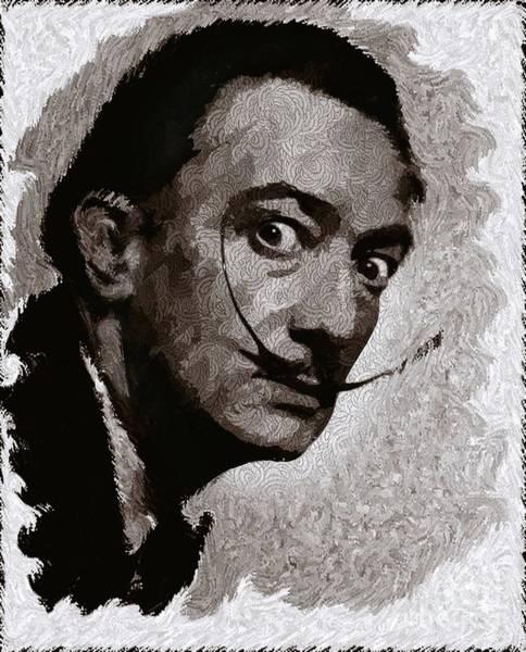 Play Music Digital Art - Salvador Dali, Artist by John Springfield