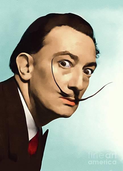 Dali Painting - Salvador Dali, Famous Artist by John Springfield