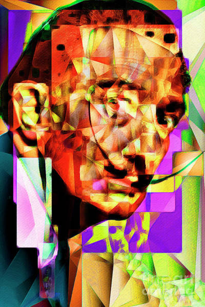 Photograph - Salvador Dali In Abstract Cubism 20170401 by Wingsdomain Art and Photography