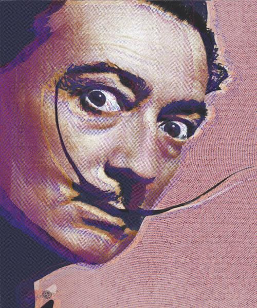 Salvador Dali Painting - Salvador Dali Pop Art Painting 1 by Tony Rubino