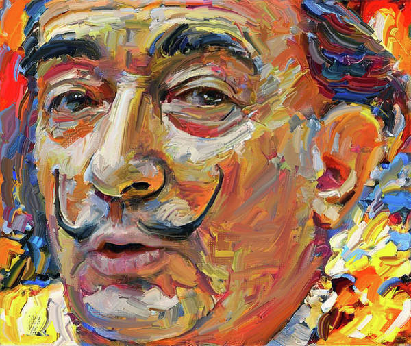 Dali Digital Art - Salvador Dali Portrait 2 by Yury Malkov