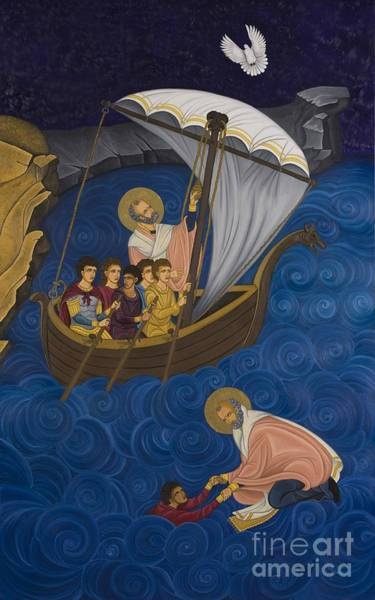 Greek Icon Painting - Salvation by Marinella Owens