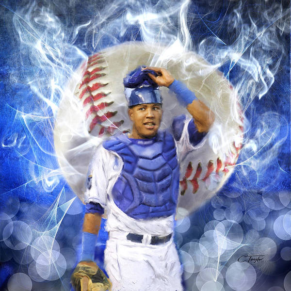 Kansas City Royals Wall Art - Painting - Salvy The Mvp by Colleen Taylor