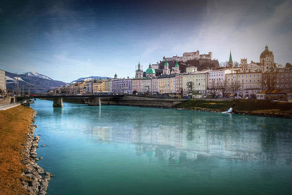 Old Church Photograph - Salzach River Salzburg Austria  by Carol Japp