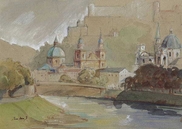 Austrian Painting - Salzburg by Juan Bosco