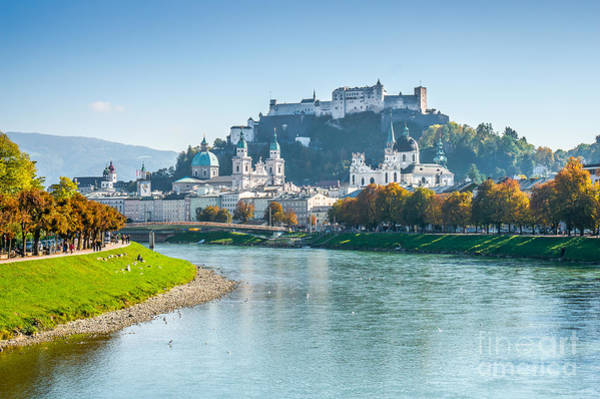 Wall Art - Photograph - Salzburg Skyline With Fortress In Summer, Austria by JR Photography