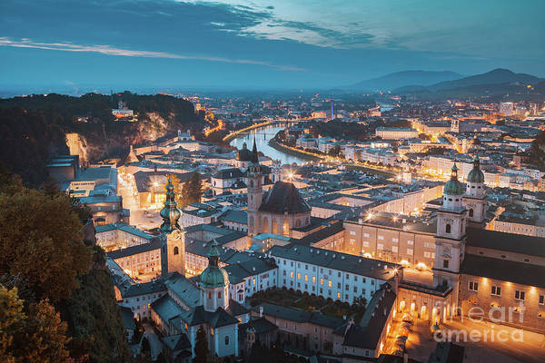 Wall Art - Photograph - Salzburg Twilight Magic by JR Photography