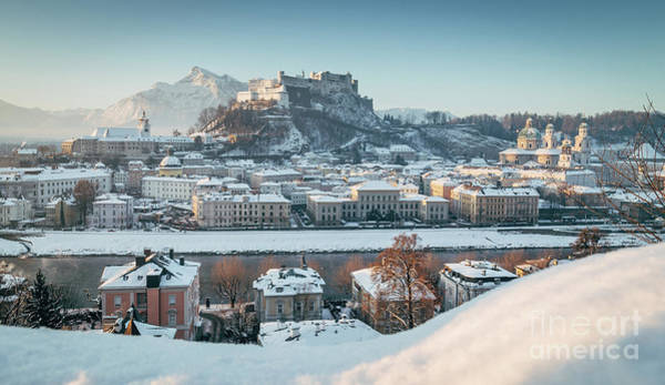 Wall Art - Photograph - Salzburg Winter Morning by JR Photography