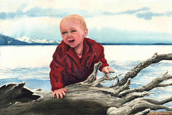 Painting - Sam And The Log by Sam Sidders