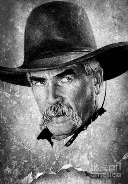 Wall Art - Drawing - Sam Elliot by Andrew Read