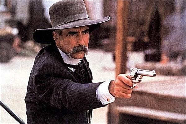 Wall Art - Photograph - Sam Elliot As Virgil Earp Mescal Arizona Tombstone Film 1993 by David Lee Guss