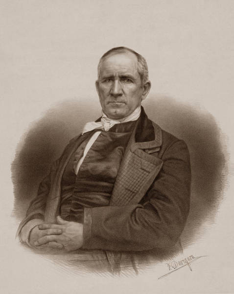 Historian Drawing - Sam Houston Portrait by War Is Hell Store