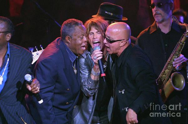 Steven Tyler Photograph - Sam Moore, Steven Tyler And Paul Schaffer by Concert Photos