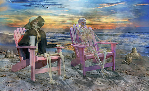 Grateful Dead Photograph - Sam Shares Tales With An Old Friends by Betsy Knapp