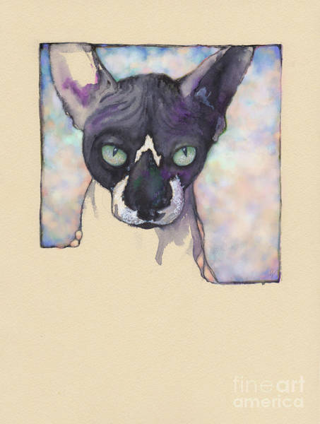 Sam The Sphynx Art Print
