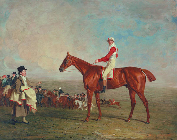 Chestnut Horse Painting - Sam With Sam Chifney Jr. Up by Benjamin Marshall