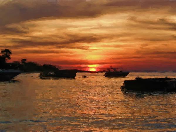 Pastel - Samed Island Sunrise by Bates Clark