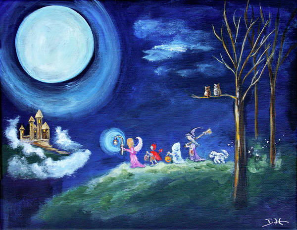 Painting - Samhain Night by Diana Haronis