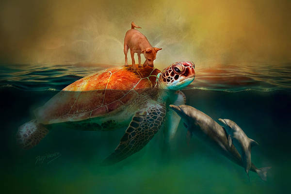 Wall Art - Mixed Media - Sammy's Ocean Adventure by David Wagner