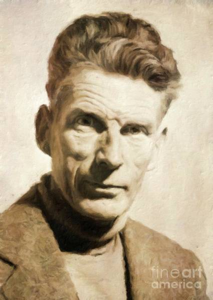 Poetry Painting - Samuel Beckett, Literary Legend By Mary Bassett by Mary Bassett