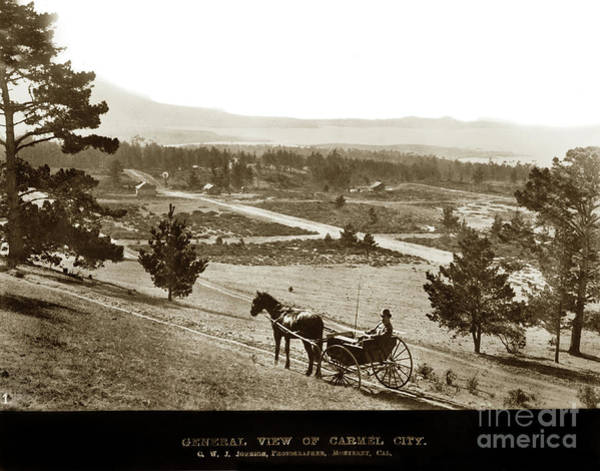 Photograph - Samuel J. Duckworth Pauses To Look Upon What Would Become Carmel 1890 by California Views Archives Mr Pat Hathaway Archives