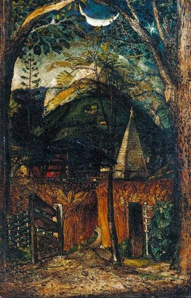 Wall Art - Painting - Samuel Palmer A Hilly Scene by Samuel Palmer
