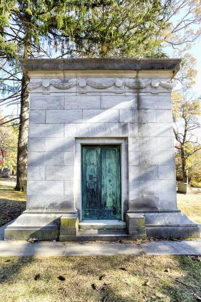 Wall Art - Photograph - Samuel Thomas Mausoleum Sleepy Hollow Cemetery  by David Pyatt