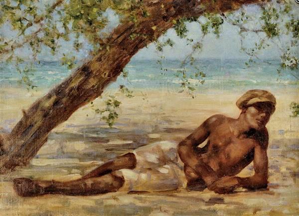 Painting - Samuel Under A Tree by Henry Scott Tuke