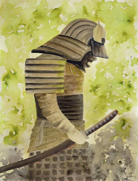 Emperor Of Japan Wall Art - Painting - Samurai by Ken Figurski