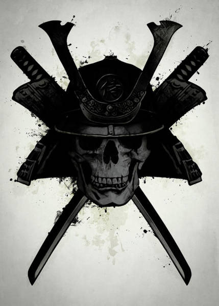 Skulls Wall Art - Digital Art - Samurai Skull by Nicklas Gustafsson