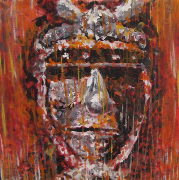 Chinese Buddha Painting - Samurai by Travis  McCray