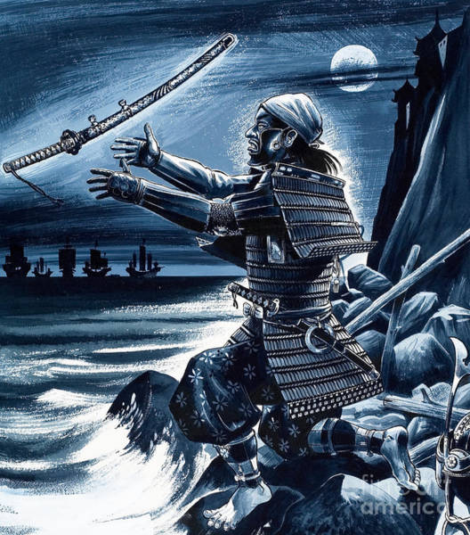 Samurai Painting - Samurai Warrior by Dan Escott