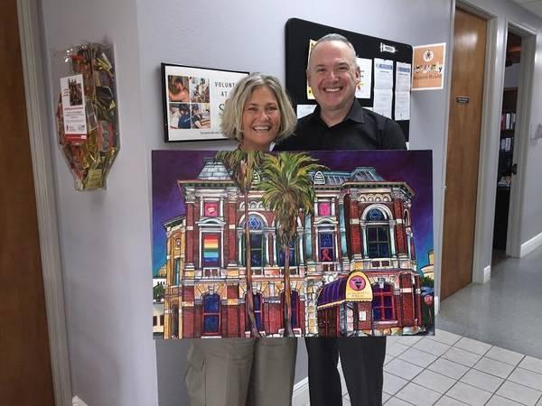 Painting - Event For San Antonio Aids Foundation Fundraiser by Patti Schermerhorn