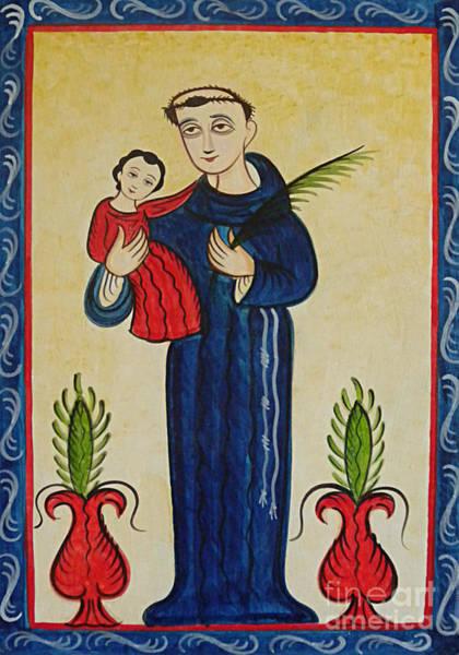 Painting - San Antonio De Padua - St. Anthony Of Padua - Aoadp by Br Arturo Olivas OFS