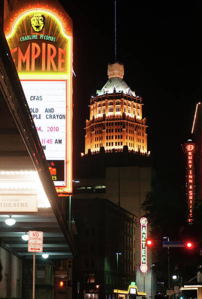 Photograph - San Antonio Downtown Night by Rospotte Photography