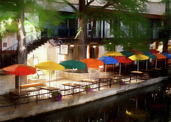 Photograph - San Antonio River Walk Oil 0737 by Rospotte Photography