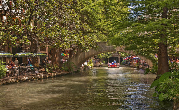 Sidewalk Cafe Photograph - San Antonio Riverwalk by Steven Sparks