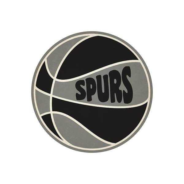 San-antonio Photograph - San Antonio Spurs Retro Shirt by Joe Hamilton