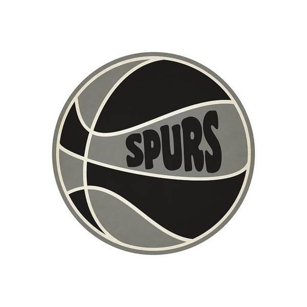 San Antonio Photograph - San Antonio Spurs Retro Shirt by Joe Hamilton