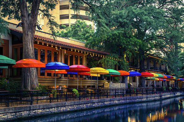 Photograph - San Antonio Texas Riverwalk Colorful Wall Art by Gregory Ballos