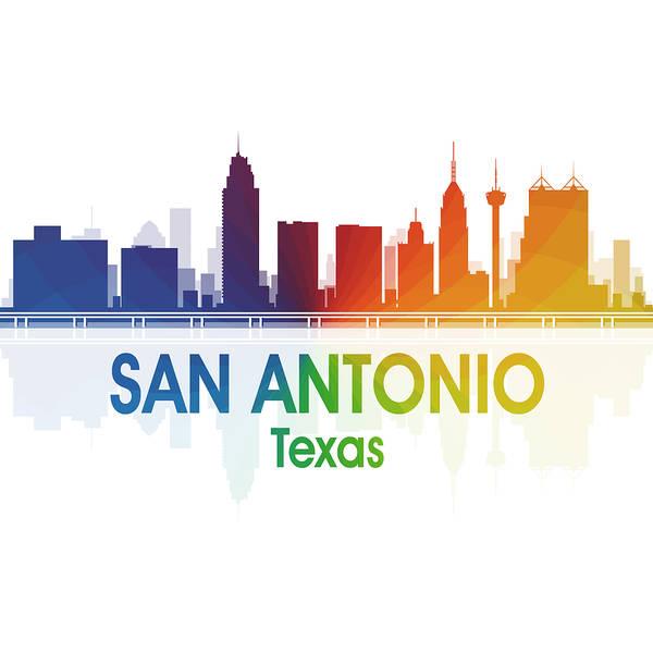 Digital Art - San Antonio Tx 1 Squared by Angelina Tamez
