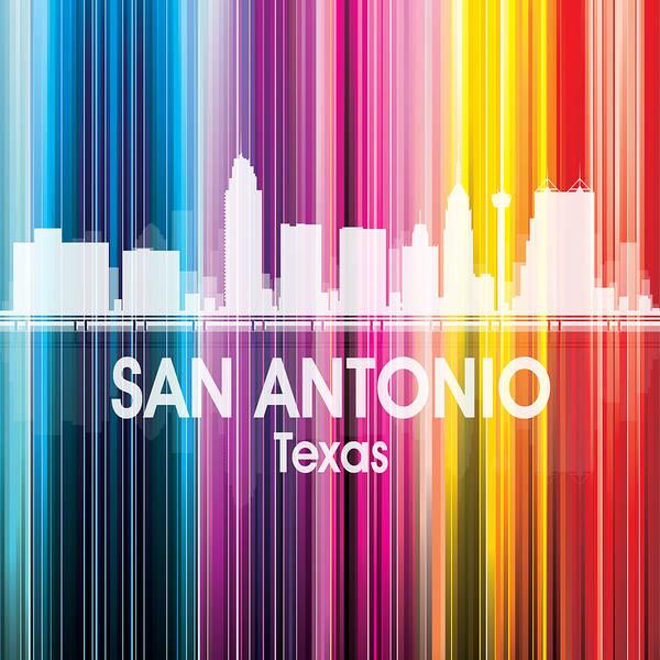 Digital Art - San Antonio Tx 2 Squared by Angelina Tamez