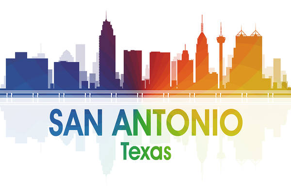Metropolis Mixed Media - San Antonio Tx by Angelina Tamez